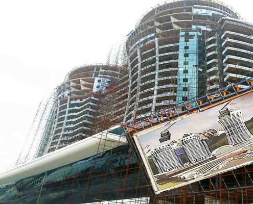 اجرای شکل پذیری ورق کامپوزیت -برج دوقلوی عظیم زاده